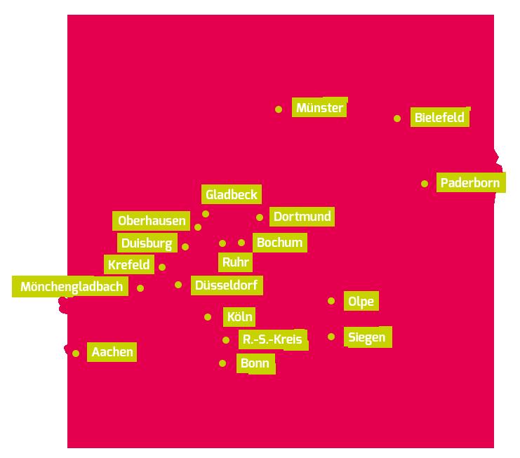 SCHLAU NRW Karte